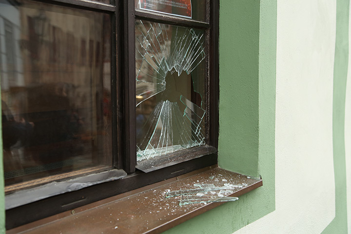 A2B Glass are able to board up broken windows while they are being repaired in St Johns.